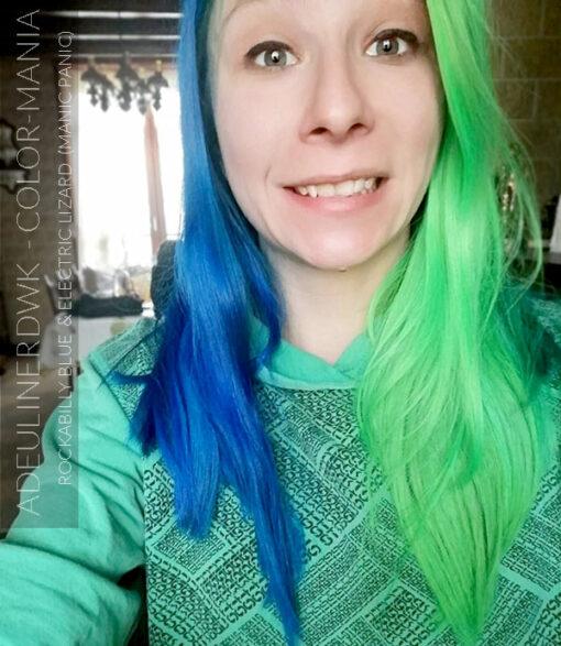 Merci Adeulinerdwk :) Coloration Cheveux Vert Electric Lizard UV - Manic Panic | Color-Mania