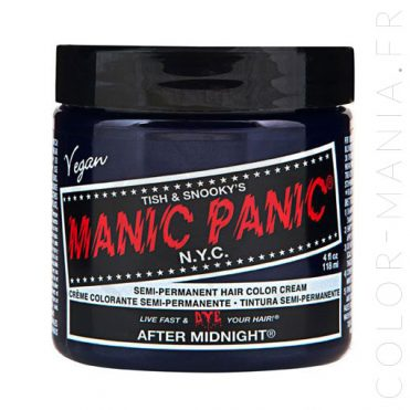 Coloration Cheveux Bleu After Midnight - Manic Panic | Color-Mania