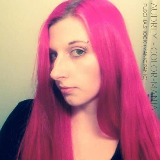 Merci Audrey :) Coloration Cheveux Rose Fuschia Shock - Manic Panic | Color-Mania