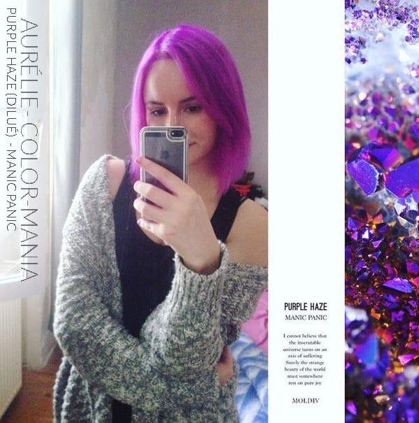 Merci Aurélie ! :) - Coloration Cheveux Purple Haze (dilué) - Manic Panic - Color-Mania