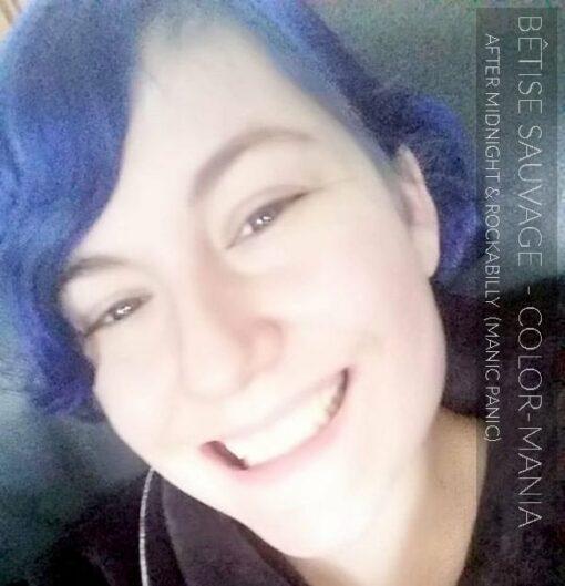 Merci Bêtise Sauvage :) Coloration Cheveux Bleu Rockabilly Blue - Manic Panic | Color-Mania
