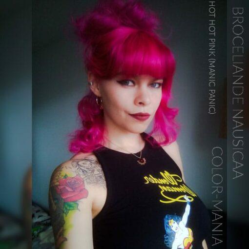 Merci Broceliande Nausicaa :) Coloration Cheveux Rose Hot Hot Pink UV - Manic Panic | Color-Mania