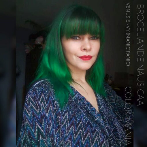 Merci Broceliande Nausicaa :) Coloration Cheveux Vert Venus Envy - Manic Panic | Color-Mania
