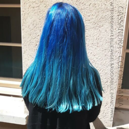 Merci Cassandra :) Coloration Cheveux Bleu Ciel Blue Angel - Manic Panic | Color-Mania