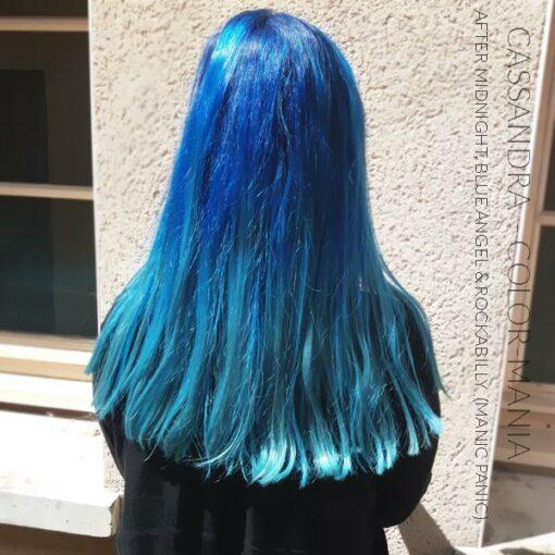 Merci Cassandra :) Coloration Cheveux Bleu Ciel Blue Angel - Manic Panic | Color-Mania