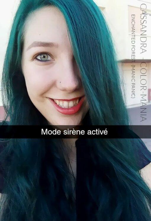 Merci Cassandra :) Coloration Cheveux Vert Enchanted Forest – Manic Panic | Color-Mania