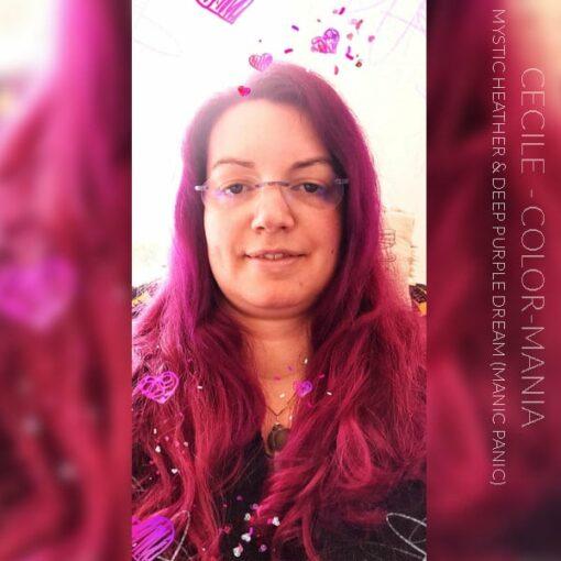 Merci Cécile :) Coloration Cheveux Lavande Mystic Heather - Manic Panic | Color-Mania