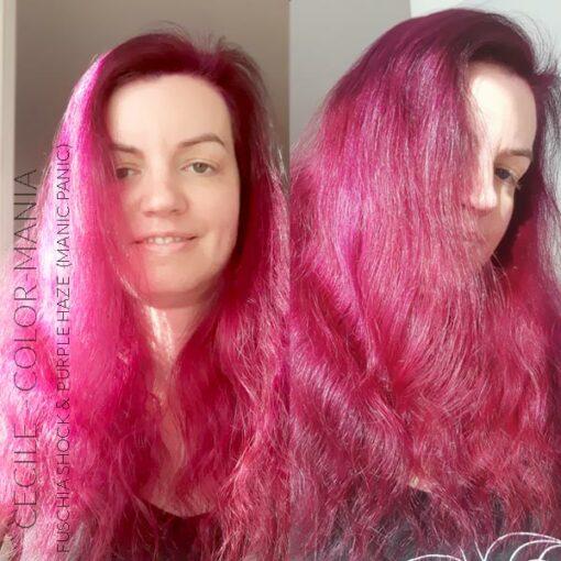 Merci Cécile :) Coloration Cheveux Violet Purple Haze - Manic Panic | Color-Mania