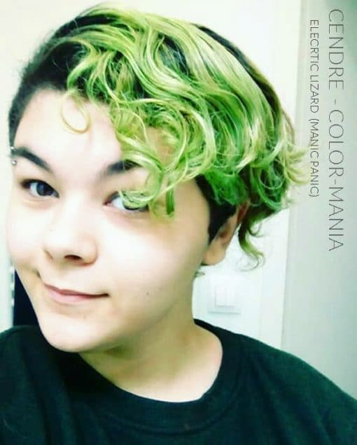 Merci Cendre :) Coloration Cheveux Vert Electric Lizard UV - Manic Panic |Color-Mania