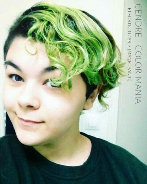 Merci Cendre :) Coloration Cheveux Vert Electric Lizard UV - Manic Panic |Color-Mania