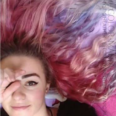 Merci Chloé ! :) - Coloration Cheveux Cleo Rose - Mystic Heather - Electric Amethyst - Manic Panic - après1 mois - Color-Mania