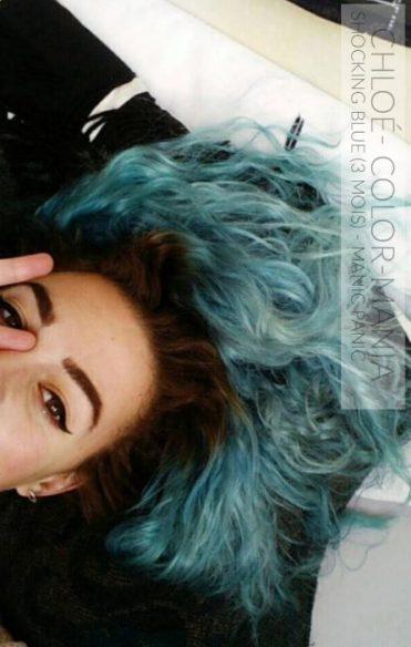 Gracias Chloe! :) - Hair Coloring Shocking Blue después de 3 meses - Manic Panic - Color-Mania