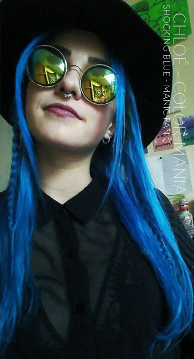 Merci Chloé ! :) - Coloration Cheveux Shocking Blue - Manic Panic - Color-Mania