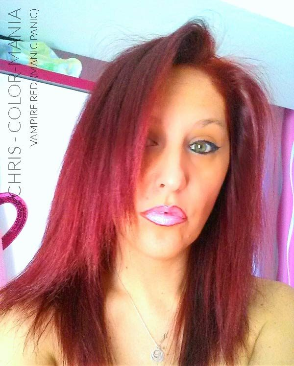 Merci Chris :) Coloration Cheveux Rouge Vampire Red - Manic Panic | Color-Mania