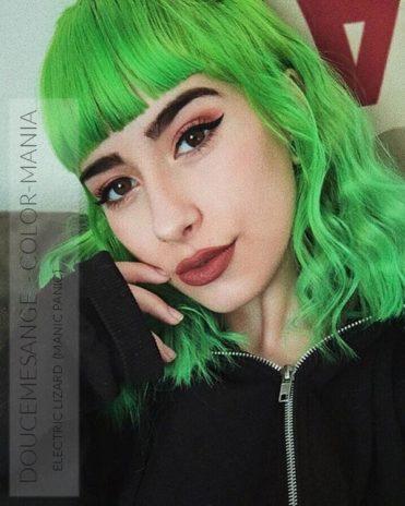 Merci Doucemesange :) Coloration Cheveux Vert Electric Lizard UV - Manic Panic   Color-Mania