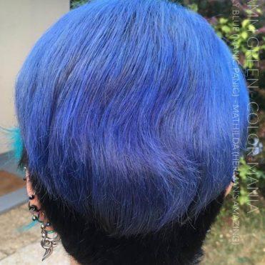 Merci Efflamm Green :) Coloration Cheveux Rockabilly Blue - Manic Panic et Mathilda Grey - Hermans Amazing | Color-Mania