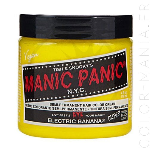 Coloration Cheveux Jaune Electric Banana - Manic Panic | Color-Mania.Fr
