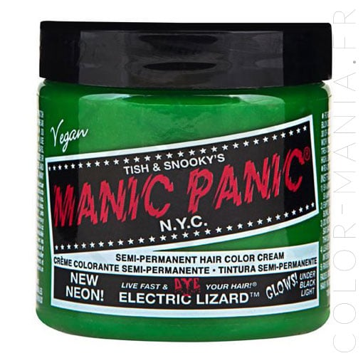 Coloration Cheveux Vert Electric Lizard UV - Manic Panic | Color-