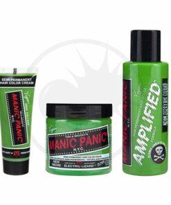 Coloration Cheveux Vert Electric Lizard UV - Manic Panic | Color-Mania