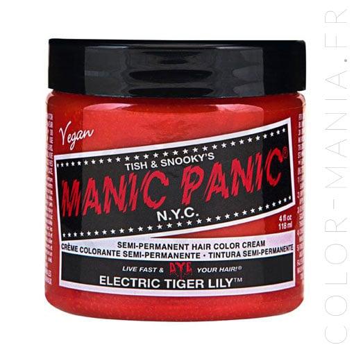 Pot de coloration cheveux Electric Tiger Lily de Manic Panic