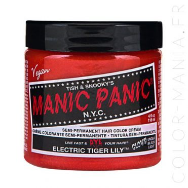Coloration Cheveux Orange Electric Tiger Lily - Manic Panic | Color-Mania