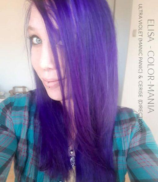 Merci Elisa :) Coloration Cheveux Ultra Violet - Manic Panic | Color-Mania