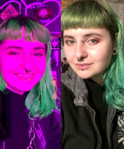 Merci Elodie :) Coloration Cheveux Vert Electric Lizard UV - Manic Panic | Color-Mania