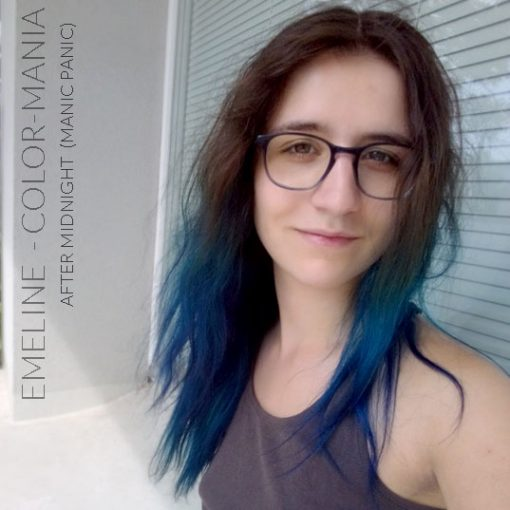 Merci Emeline :) Coloration Cheveux Bleu After Midnight - Manic Panic | Color-Mania