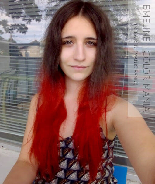 Merci Emeline :) Coloration Cheveux Infra Rouge Red - Manic Panic | Color-Mania