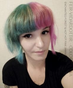 Merci Feïr-Viđardottir :) Coloration Cheveux Vert Enchanted Forest – Manic Panic - Dilué | Color-Mania