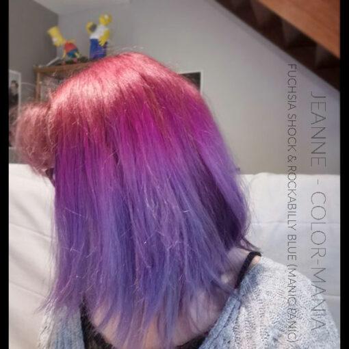 Merci Jeanne :) Coloration Cheveux Bleu Rockabilly Blue - Manic Panic | Color-Mania