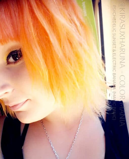 Merci @kirasuxharuna :) Coloration Cheveux Orange Psychedelic Sunset - Manic Panic | Color-Mania