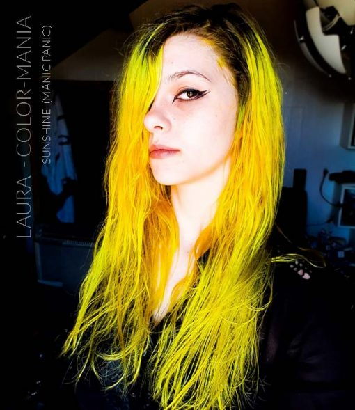 Merci Laura :) Coloration Cheveux Jaune Sunshine - Manic Panic | Color-Mania