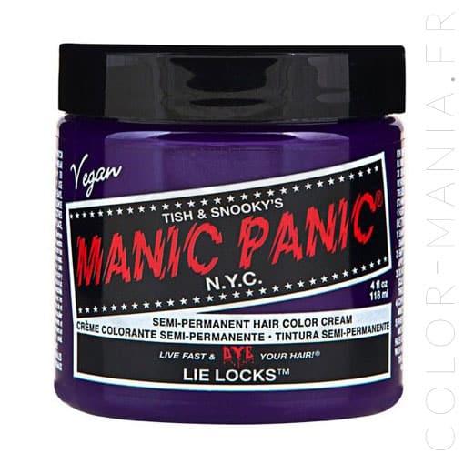 Coloration Cheveux Violet Pastel Lie Locks - Manic Panic | Color-M