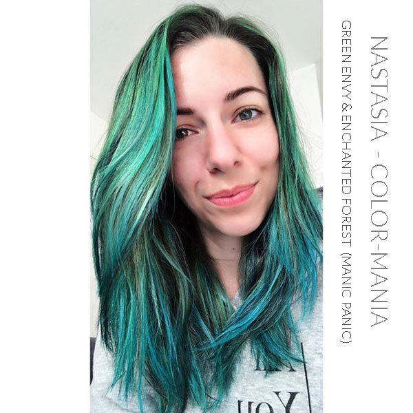 Merci Nastasia :) Coloration Cheveux Vert Enchanted Forest - Manic Panic | Color-Mania