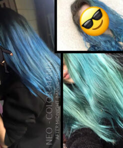 Grazie Neo :) Blue Hair Coloring After Midnight - Manic Panic - Evolution | Color-Mania