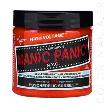 Coloration Cheveux Orange Psychédélique - Manic Panic | Color-Mania