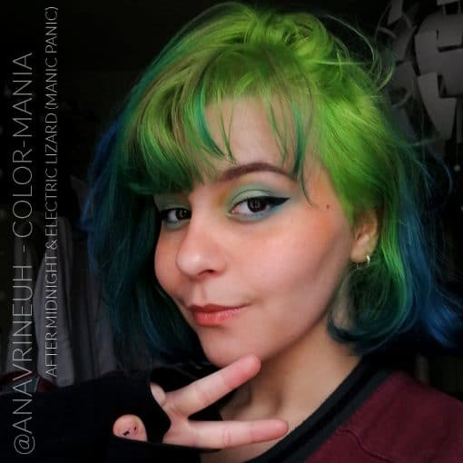 Merci Sara :) Coloration Cheveux Bleu After Midnight - Manic Panic | Color-Mania