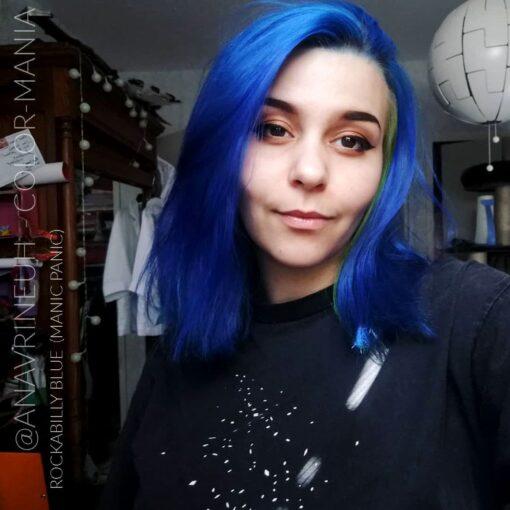 Merci Sara :) Coloration Cheveux Bleu Rockabilly Blue - Manic Panic | Color-Mania