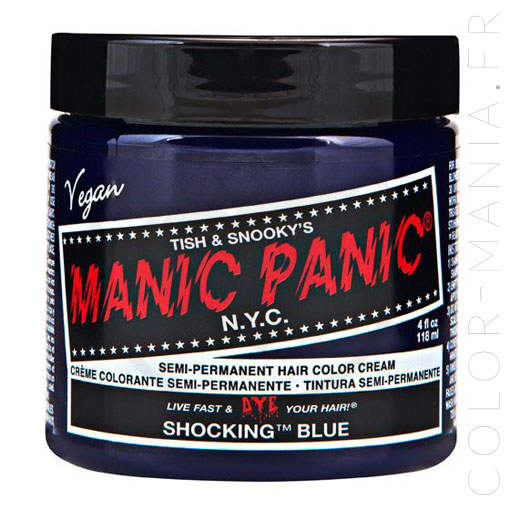 Coloration Cheveux Bleu Shocking Blue - Manic Panic | Color-Mani
