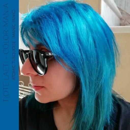 Merci Tiote Laeti :) Coloration Cheveux Atomic Turquoise - Manic Panic | Color-Mania