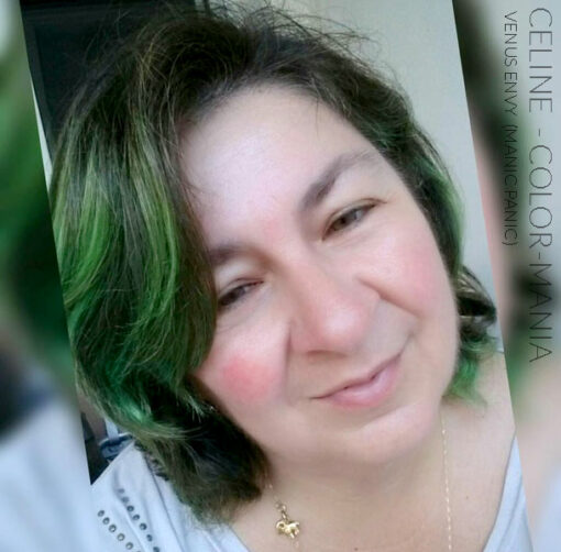 Merci Céline :) Coloration Cheveux Vert Venus Envy - Manic Panic | Color-Mania