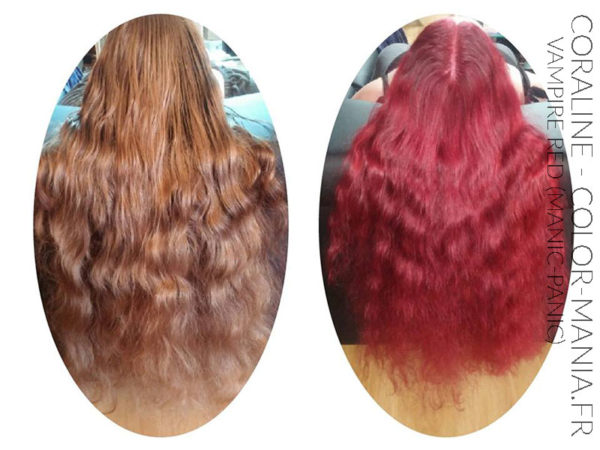 Coloration Cheveux Rouge Vampire Red - Manic Panic | Color-Mania