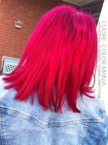 Rose - Merci Cuore :) Coloration Cheveux HotHotPink et Flamingo - Manic Panic