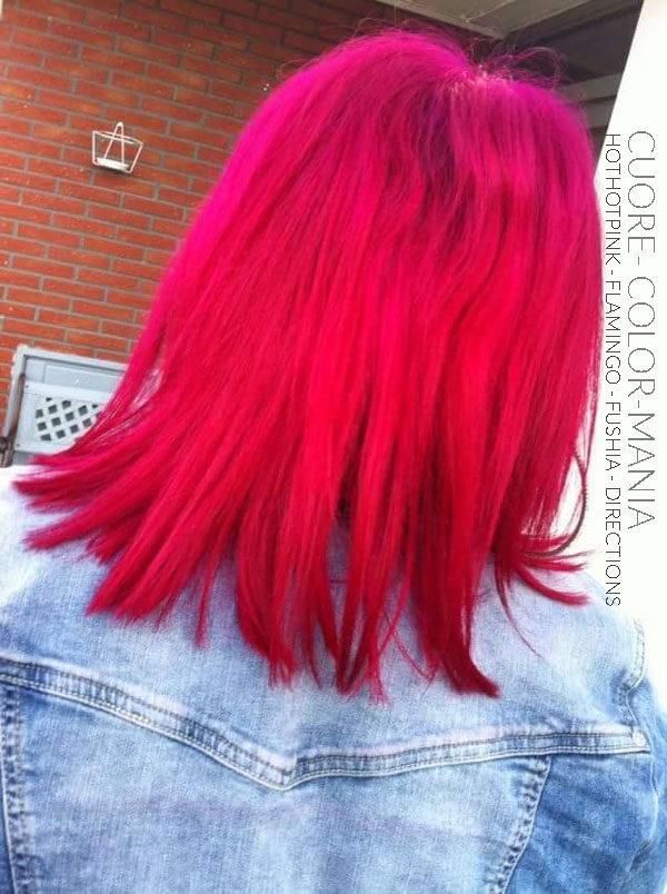 Rose - Merci Cuore :) Coloration Cheveux HotHotPink et Flamingo - Manic Panic