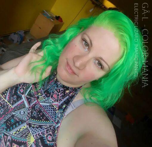 Merci Gâ-l :) Coloration Cheveux Vert Electric Lizard UV - Manic Panic | Color-Mania