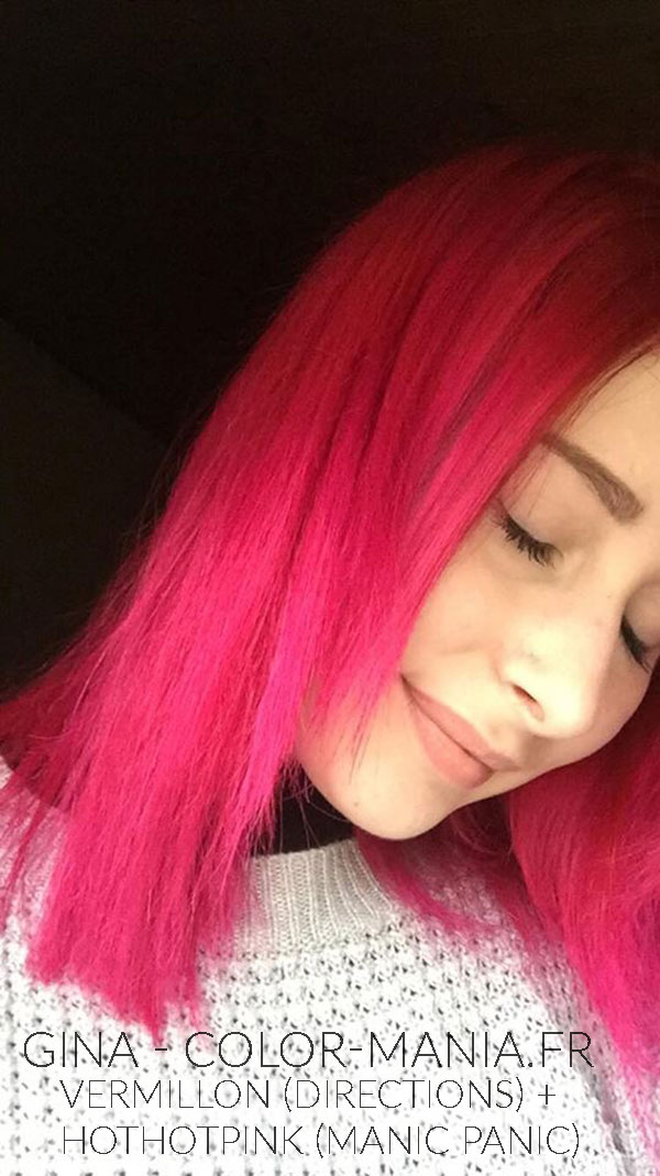 coloration cheveux rose hot hot pink uv manic panic. Black Bedroom Furniture Sets. Home Design Ideas