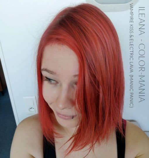 Merci Ileana :) Coloration Cheveux Rouge Vampire's Kiss - Manic Panic | Color-Mania