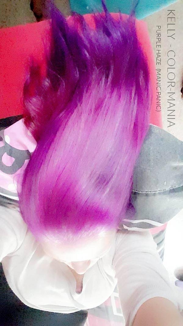 Merci Kelly :) Coloration Cheveux Violet Purple Haze - Manic Panic | Color-Mania