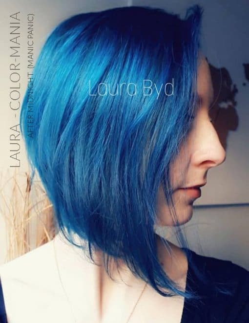 Merci Laura :) Coloration Cheveux Bleu After Midnight - Manic Panic | Color-Mania